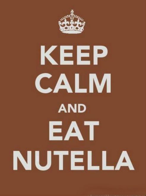 Keep Calm & Eat Nutella -- this is perfect for my younger daughter...she's a nutella freak!