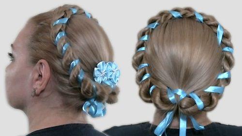 коса вокруг головы фото