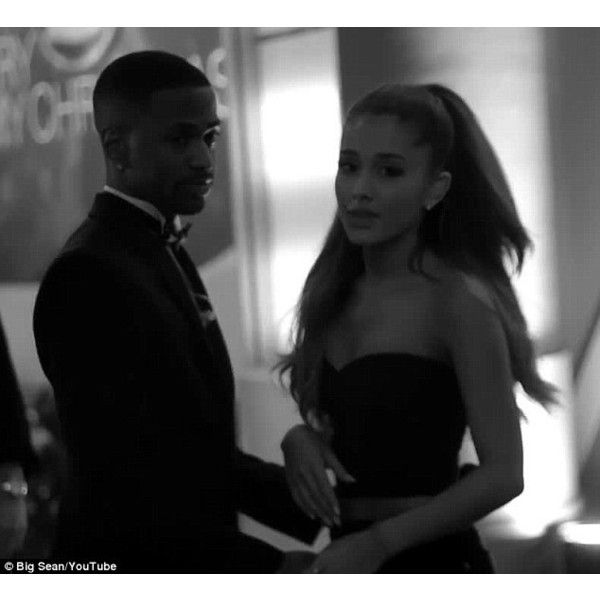 Ariana Grande shares tender kiss with Big Sean in candid video ❤ liked on Polyvore featuring ariana grande