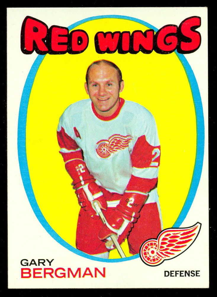 1971 72 TOPPS HOCKEY 119 GARY BERGMAN NM DETROIT RED WINGS WITH FREE SHIP TO USA #DetroitRedWings
