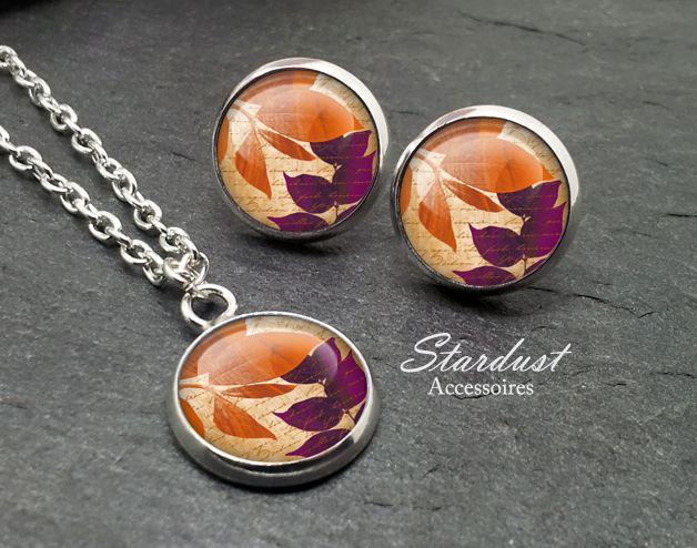 Schmuckset silber ♥ Herbstblätter II ♥ von Stardust Accessoires auf DaWanda.com