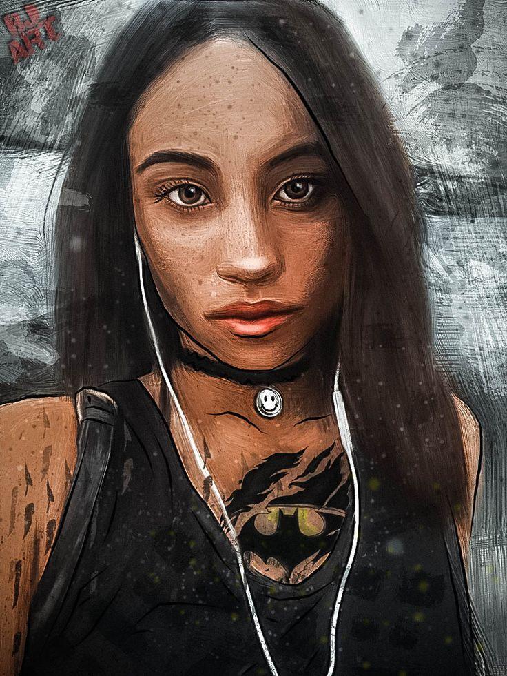 girl. batman. batgirl. asian. asian girl. brown eyes. девушка. бэтмен. комикс. азиатка. карие глаза. art. julia britt. bjart.