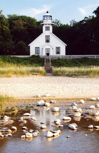 Old Mission Point Lighthouse - Traverse City, MI...where my great great Gramma was the first white girl out on this peninsula...