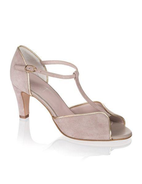 Lazzarini Veloursleder-Sandalette - beige - Gratis Versand | Schuhe | Sandalen & Sandaletten | Online Shop | 1322813144