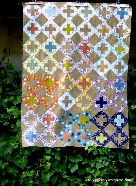August Quilt top by betyipiernaty; August by Cotton+Steel