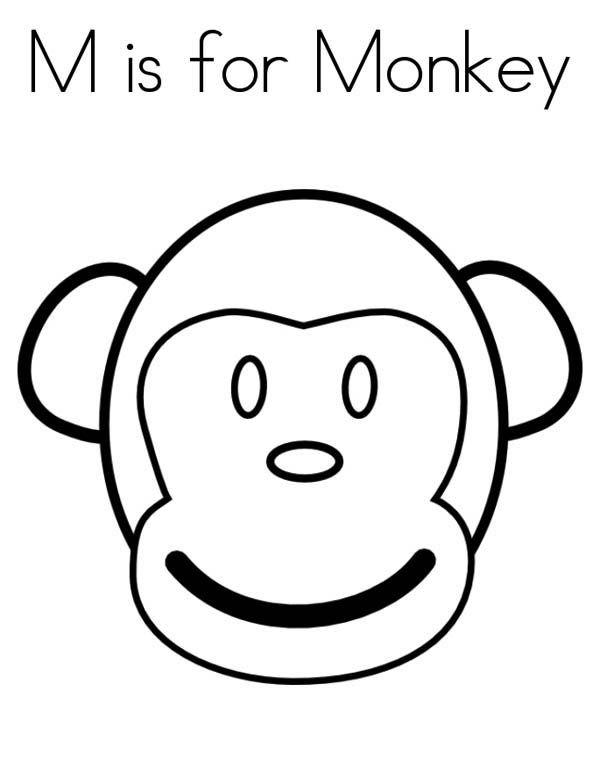 Monkey Monkey Face Coloring Page Jpg Monkey Coloring Pages Monkey Face Coloring Pages