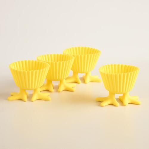 One of my favorite discoveries at WorldMarket.com: Chick Feet Silicone Cupcake Liners 4 Pack