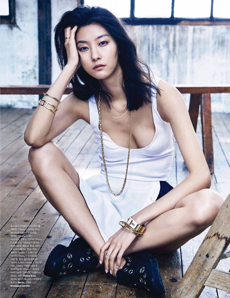 Ji Hye Park wears Recto top and skirt with Giuseppe Zanotti sneakers