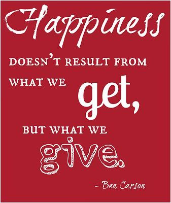 Happiness from Giving - How do you raise Giving Children? #Quote #Christmas #Gifts