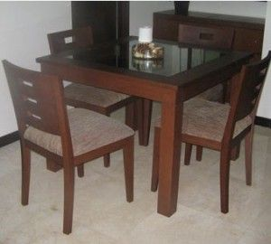 Set Meja Makan 4 Kursi Minimalis | Alfah Furniture