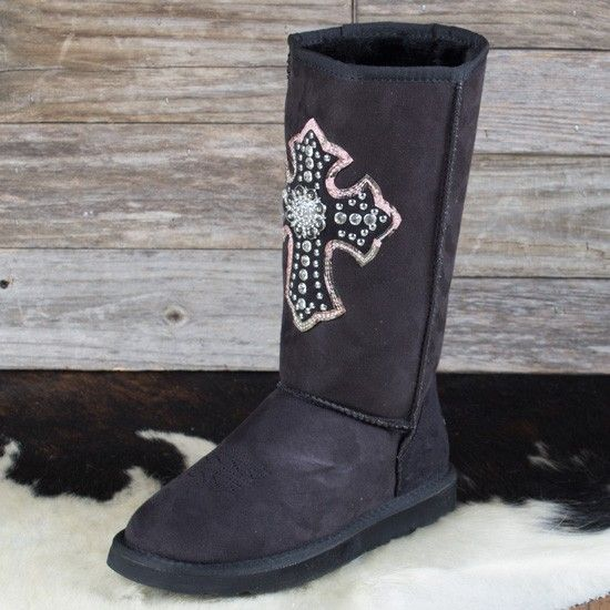 Ladies' Big Sky Camo Cross Fleece Boots