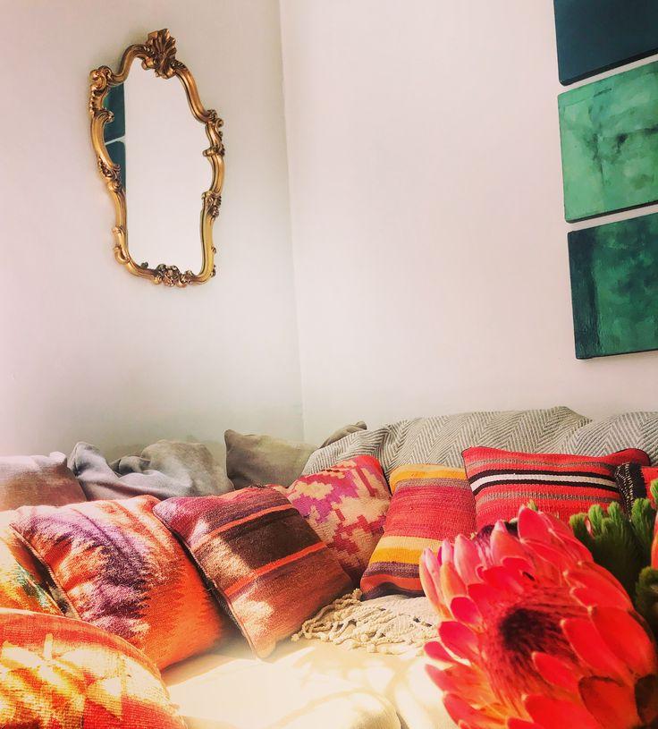 Vintage Kilim Cushions  #bohointeriors #gypseydecor #bohoglam #boho #bohemianstyle  #bohostyle #beautifullyboho #ihavethisthingwithcolour #ihavethisthingwithtextiles #gypseyset #makeityours #inmydomain #bohochic #electichome #eclecticdecor #maximalism #myhomevibe #planteriordesign #myhyggehome