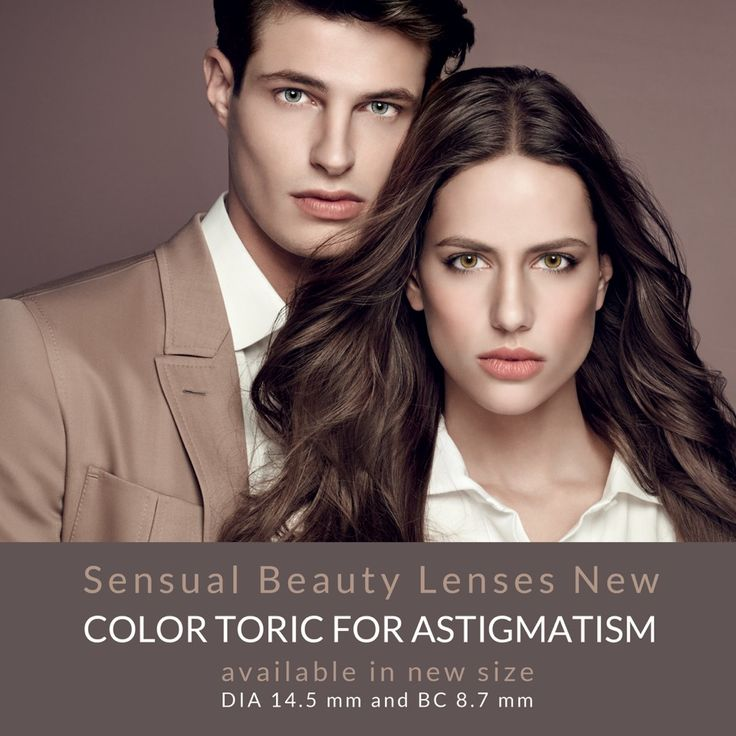 Desio Toric color contact lenses for ASTIGMATISM available