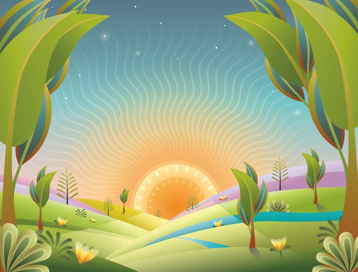 #ChristianeBeauregard #landscape #illustration #vectorillustration #sunrise #motherearth #mothernature #beauty #newbeginning #newday #lindgrensmith