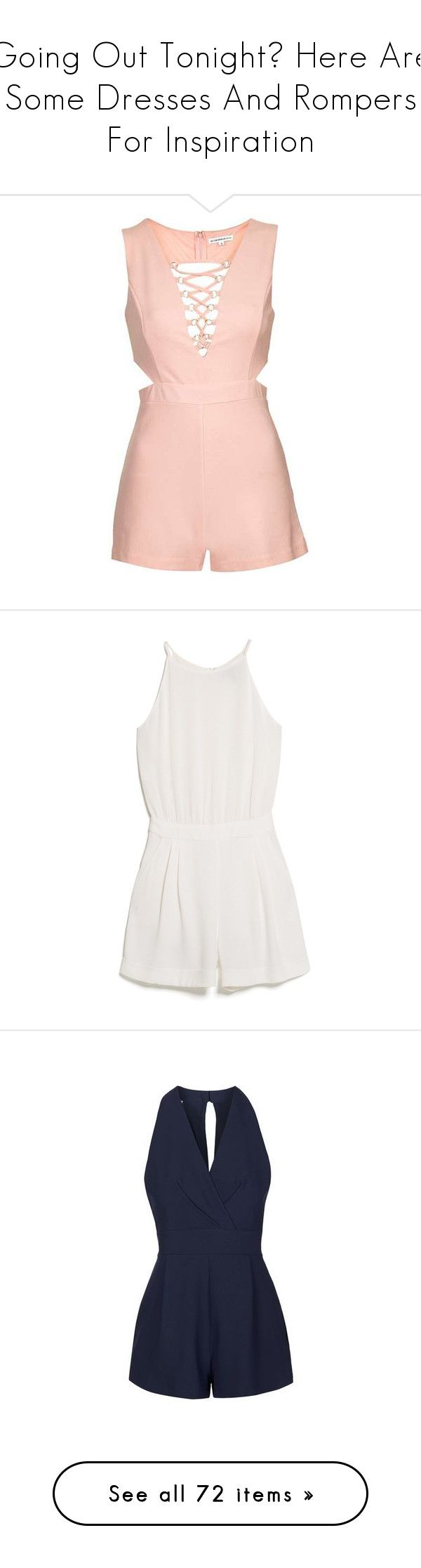"""""""Going Out Tonight? Here Are Some Dresses And Rompers For Inspiration"""" by meredith-gomes on Polyvore featuring jumpsuits, rompers, playsuits, dresses, jumpsuit, jumpsuits and rompers, going out jumpsuits, going out rompers, topshop jumpsuit and topshop romper"""
