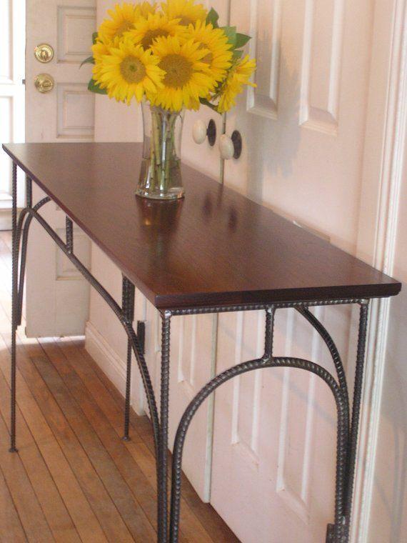 Custom Rustic Industrial Sofa Table Etsy Mesa De Sofa Industrial Rustico Aparador Sala De Jantar