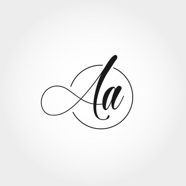 Initial Letter Aa Logo Design Initials Logo Design Monogram Logo Letters Monogram Logo Design