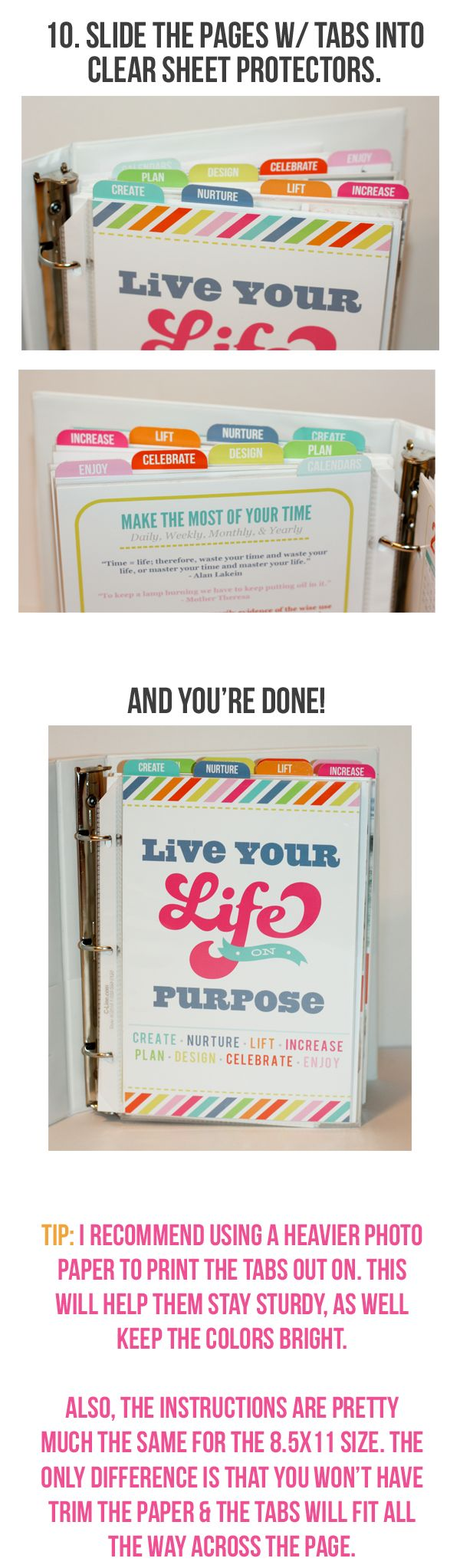 Live Your Life Binder.... THIS IS FANTASTIC!!!