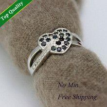 Engagement&Party Wedding Black Bague Simulated Diamond Rings Zirconia for Women Aniversario Aneis de Diamante Anillos D&C Y007