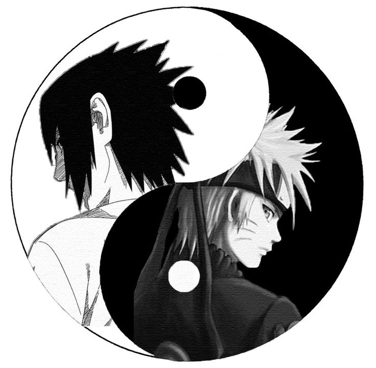 Sasuke and Naruto.  Yin Yang by Nieranthas on deviantART