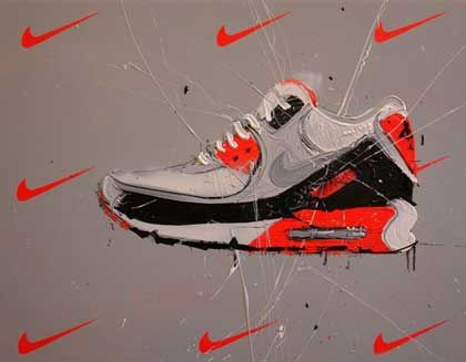 Dave White Sneaker art