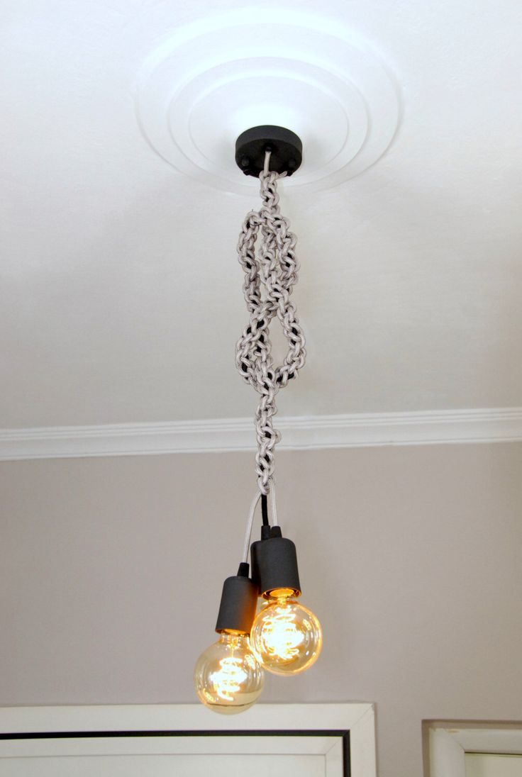 Limited edition 4Words Macrame Black and Silver Handmade Pendant Light Chandelier Edison Restoration Industrial Fabric cables Panselinos door panselinos op Etsy https://www.etsy.com/nl/listing/216154136/limited-edition-4words-macrame-black-and