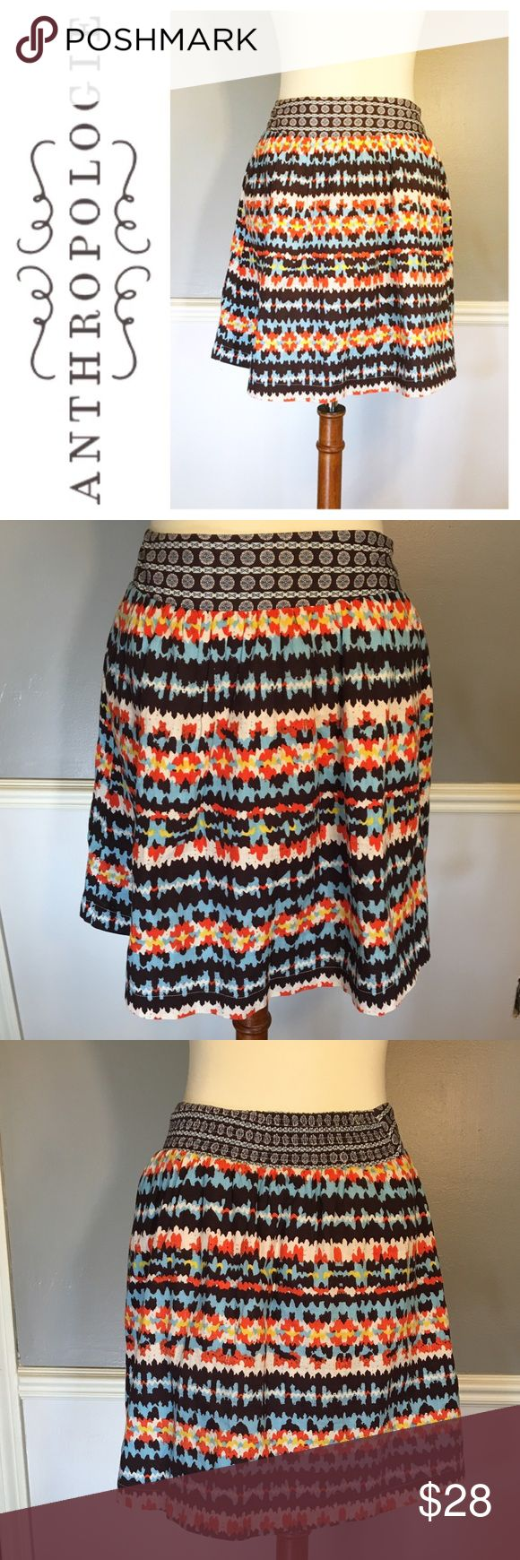 ANTHROPOLOGIE Porridge Aztec print skirt EUC without any flaws. Size 2. Anthropologie Skirts Mini