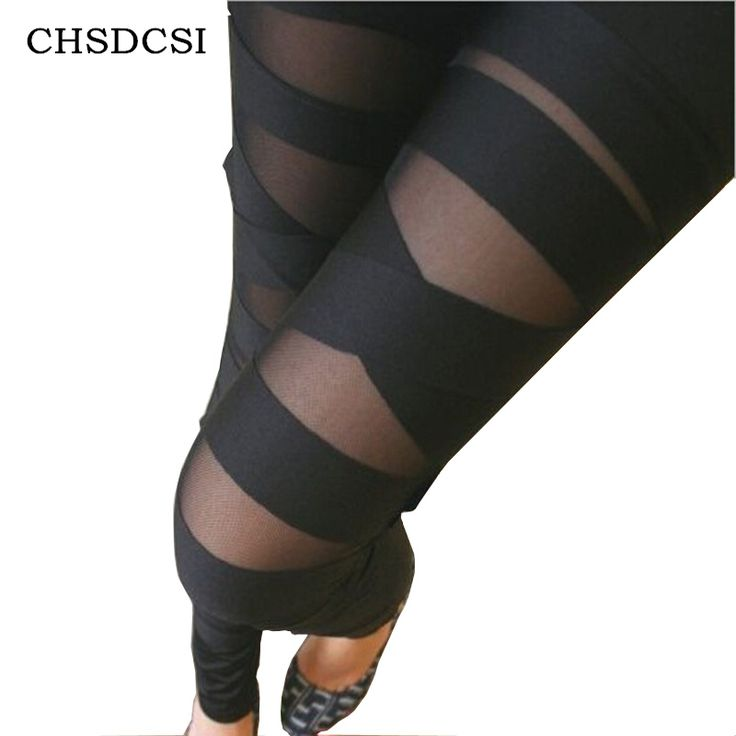 Strappato Cut-out Fasciatura Black Woman Lady Leggings pantaloni Sexy di Trasporto Libero W3153