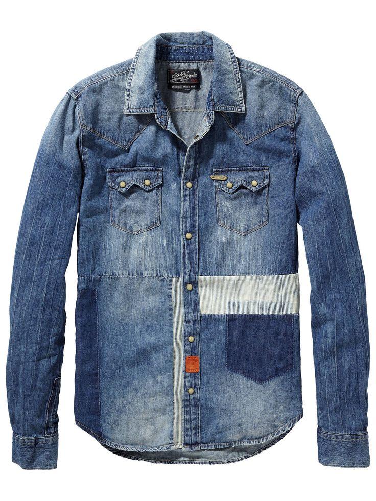 Customized sawtooth shirt | Shirt l/s | Men's Clothing at Scotch & Soda