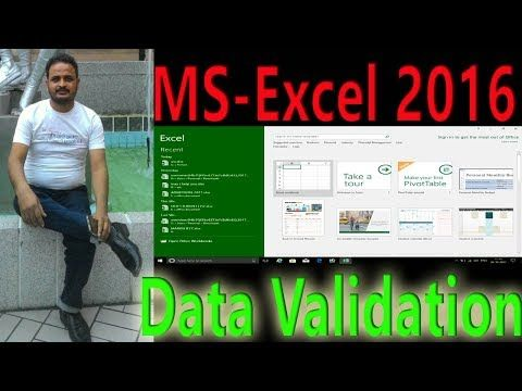 Academy of Software Technology: how to use data validation in Ms Excel 2016 in hin...