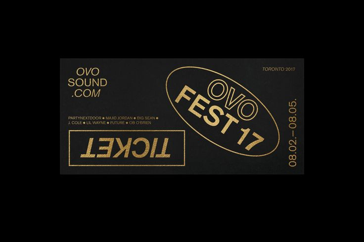 Various geometric shapes and a mix of type combined with outlines are a appoach to create a very own flexible visual identity for OVO Sound, a well known Canadian record label founded by Aubrey Graham, Noah Shebib and Oliver El-Khatib.