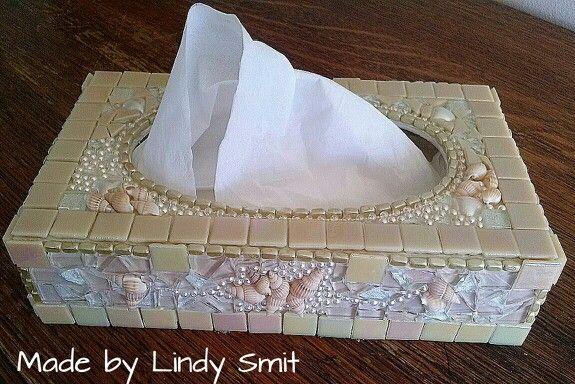 Vintage style mosaic tissue box.