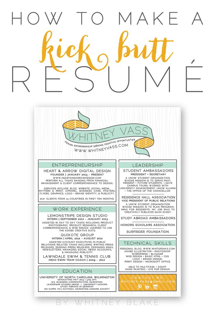 How To: Make A Kick Butt Resumé  Unique Resume Ideas