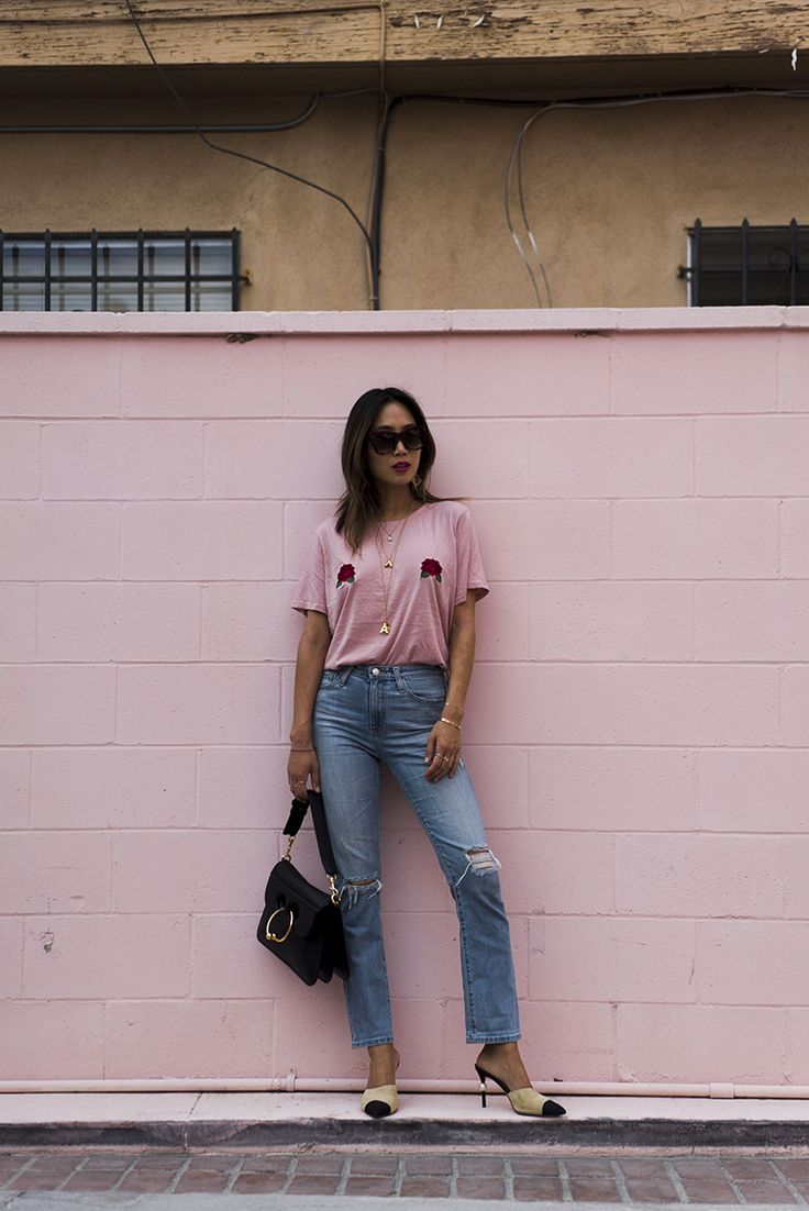 Walking around LA in my current favoritecasual combo. We've restocked the Two Songs rose tits tee ONE LAST TIME and there are a few left on the site …