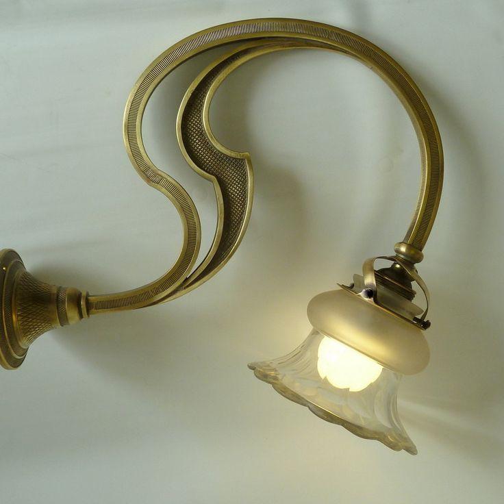 Art Nouveau  wall -sconce light by DALESARTS on Etsy