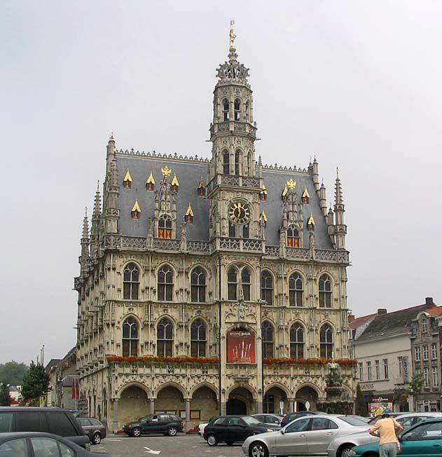 Belfry of the Town Hall, Oudenaarde, Flanders Region, Belgium