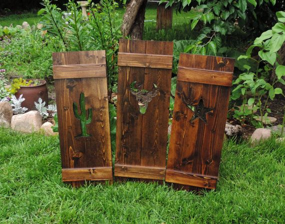 Wood shutters, interior shutters, exterior shutters, southwestern decor, window shutters, decorative shutters, saloon doors, cafe doors, 46""