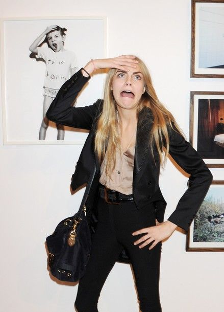 There's something about a woman who is not afraid to be herself! Cara Delevinge