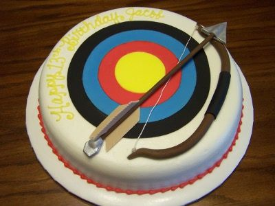 88 best Archery cakes images on Pinterest Archery Archery party