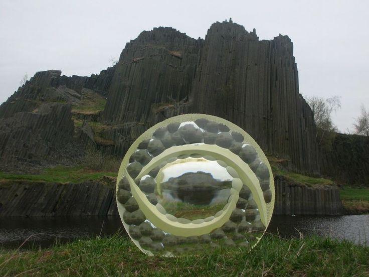 cuting glass sculpture , optical glass