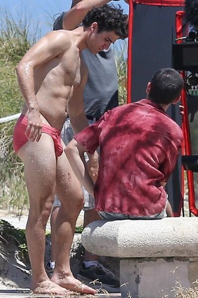 Darren Criss in a speedo