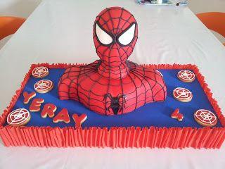 spider man rice krispies treat on birthday cake