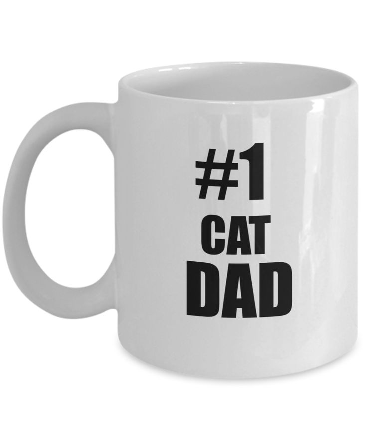 Cat Dad Mug- Number One Cat Dad-Cat Dad Coffee Mug - Cat Lover Gifts - Cat Gifts For Cat Lovers