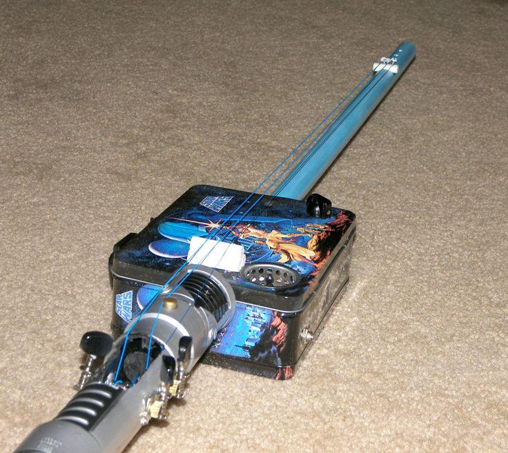 Old Ben Star Wars Lightsaber Lunch box Guitar - Cigar Box Guitar SALE!