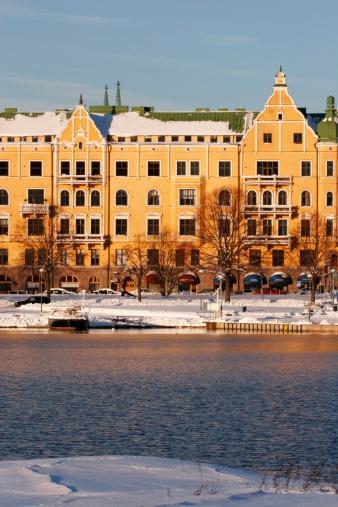 Jugenstil apartment building in Ullanlinna district, Helsinki, Finland