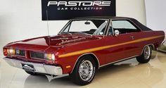 Dodge Charger RT 1975 Vermelho Azteca - Pastore Car Collection