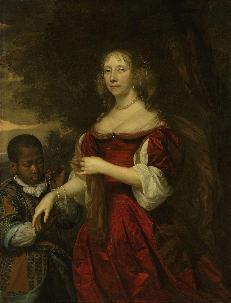 Margaretha van Raephorst (gest 1690). Echtgenote van Cornelis Tromp, Jan Mijtens, 1668 (Rijksmuseum)