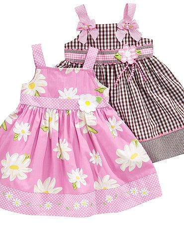 Blueberi Boulevard Baby Dress, Baby Girls Pattern Sundress   Kids