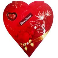 Red Heart Shape Pack of Assorted Homemade Chocolates to Bangalore, Karnataka Rs. 530 / USD 8.83