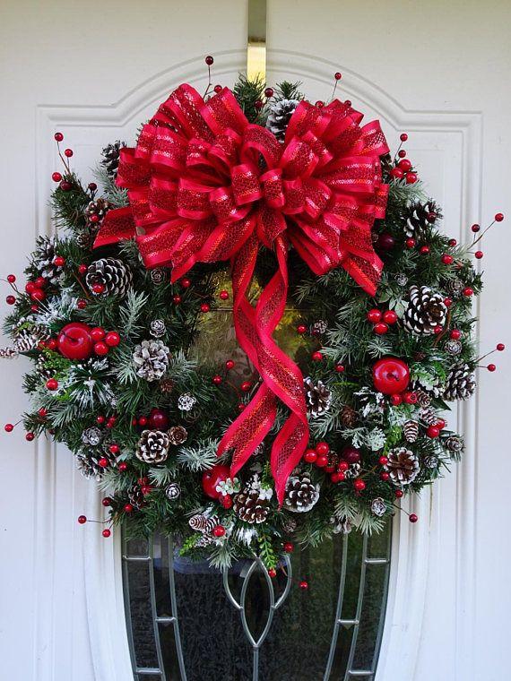 Christmas Wreath Holiday Wreath Red Wreath